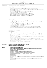 Recreational Therapist Resume Samples Velvet Jobs