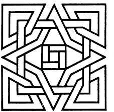 Geometric Shapes Printable Coloring Pages Adult For Kids Metric Free