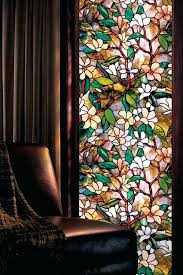 stain glass window decal magnolia stained glass window get the decorative look of stained glass stain glass window decal