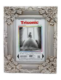 5x7 silver and bronze antique style picture frame