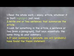 What Is Thesis In Essay Identifying Thesis Statements Basic Reading And Writing