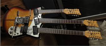 the unique guitar blog double neck guitars the company did offer a production twelve six string double neck guitar for to the public this guitar featured a twelve string neck on the