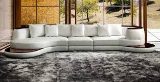 white leather contemporary sectional
