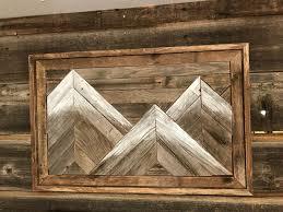 three mountain repurposed barnwood wall art img 5102 e1520372140216 800x600 stupefying rustic
