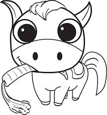 Small Picture Free Printable Cartoon Horse Coloring Page for Kids 2
