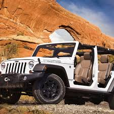 White, Jeep Wrangler, off road ...
