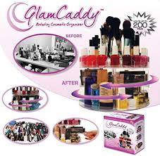 versatile rotating glam caddy cosmetic organizer hold