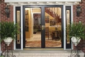 double storm doors. French Door Storm Doors With Screen Double Full Glass Narrow Patterned