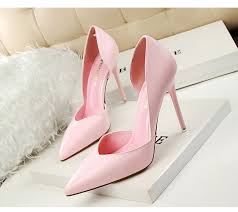 Concise High <b>Heels Women Pumps Shoes</b> Yellow White Thin <b>Heels</b> ...