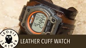making a leather watch cuff
