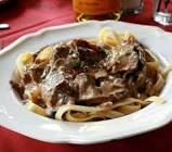 beef stroganoff  from the  old  russian tea room