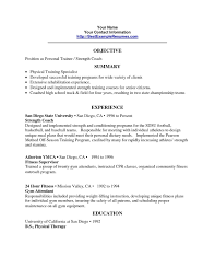 Personal Trainer Resume Template Fresh Personal Trainer Resume