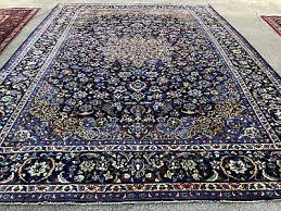 2 of 12 10x14 blue hand knotted persian rug iran wool woven made area rugs antique 10x15