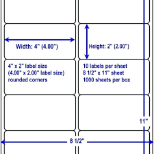 Avery 10 Labels Per Sheet Template Avery Mailing Labels