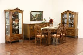 1940s dining room furniture. country french carved oak 1940u0027s bookcase or china cabinet 1940s dining room furniture
