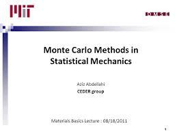 Monte Carlo Methods In Statistical Mechanics Aziz Abdellahi