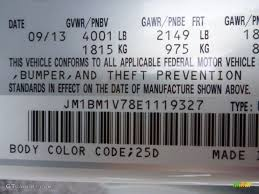 2014 Mazda3 Color Code 25d For Snowflake White Pearl Photo