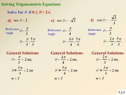 5 2 8 e f d solving trigonometric equations solve for if