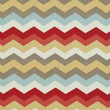 chevron outdoor indoor upholstery fabric red blue pink gold and grey