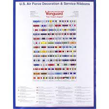 Us Air Force Medals And Ribbons Chart Air Force Decoration Service Ribbon Poster