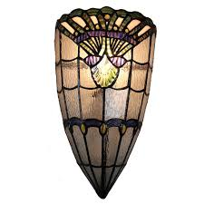 springdale ligthing tan haiawa 1 light white and hand rolled art glass wall sconce