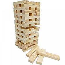 Lawn Game With Wooden Blocks GIANT TOWER BLOCKS WOODEN TUMBLING 100100M GARDEN GAME OUTDOOR FAMILY 58