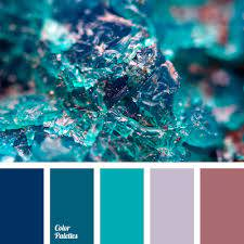 emerald green and blue color palette