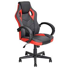ergonomic office chairs. Plain Chairs Ergonomic Computer Seat Faux Leather Office Racing Desk ChairRed On Chairs