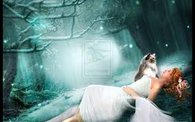 SWEET DREAM GIRL IN SNOW WALLPAPER ...