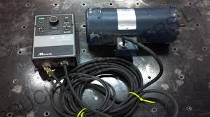 this leeson setup should work wonderfully as you can adjust the motor output sds from 0 1750 rpm and it is reversible