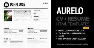 Resume Website Template Interesting 28 Free ResumeCV HTML Website Templates And Layouts Designmodo