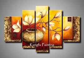 100 hand painted unframed abstract 5 panel canvas art living room wall decor painting modern sets com5221 5 panel canvas art 5 panel 5 canvas art