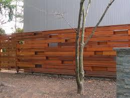 fence designs horizontal