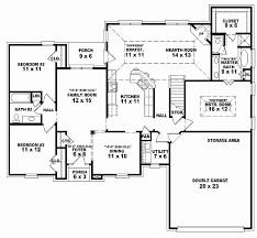 3 bedroom house plan one story new house plans 3 bedroom 2 5 bath e floor