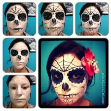day of the dead skull face paint