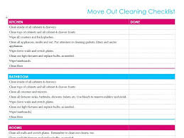 Rental Move Out Checklist For Cleaning Free Printable Moving Home