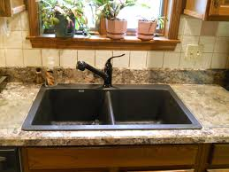 wilsonart winter carnival laminate with blanco diamond anthracite sink and kohler cais faucet