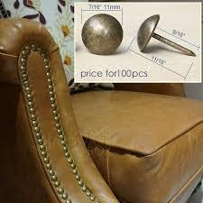 decorative nails for furniture. 100 Pcs Decorative Nail For Furniture Leather Copper Round Rivet Tack 7/16\ Nails C