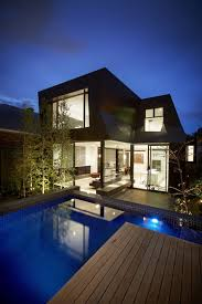 Dazzling Duplex House Design With Lucent Glazing And Timber Cladding Fascinating Modern Exterior Cladding Panels Concept Property