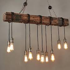 beam light fixture farmhouse style dark distressed wood beam large linear island pendant light bulbs diy wood beam light fixture
