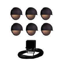 ring low voltage garden lighting kits. portfolio 6-light black low-voltage incandescent deck lights landscape light kit could ring low voltage garden lighting kits a