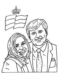 Kleurplaat Troonwisseling Koning Willem Alexander En Koningin Maxima