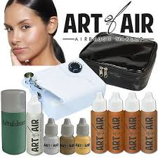 art of air professional airbrush cosmetic makeup system tan foundation set