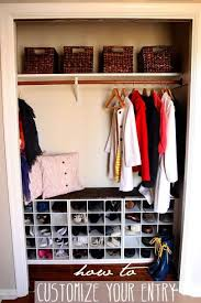 Coat Closet With Shoe Rack Impressive Entryway Coat Closet Makeover Holly B Baking Pinterest 2