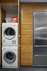Pre-made cabinets to hide stackable washer/dryer?