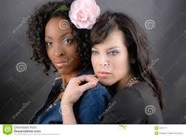 Lesbians white on black