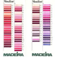 Thread Colour Charts Madeira Mouline Stranded Cotton Thread