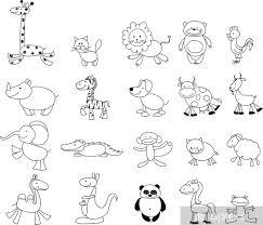 Carta Da Parati Disegni Dei Bambini Doodle Animali Pixers
