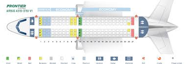 Frontier Airlines Seating Chart Seat Map Airbus A319 100 Frontier Airlines Best Seats In