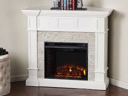 merrimack wall corner electric fireplace mantel package in white fe9638